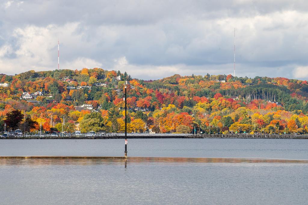 Grand Traverse Bay views in fall