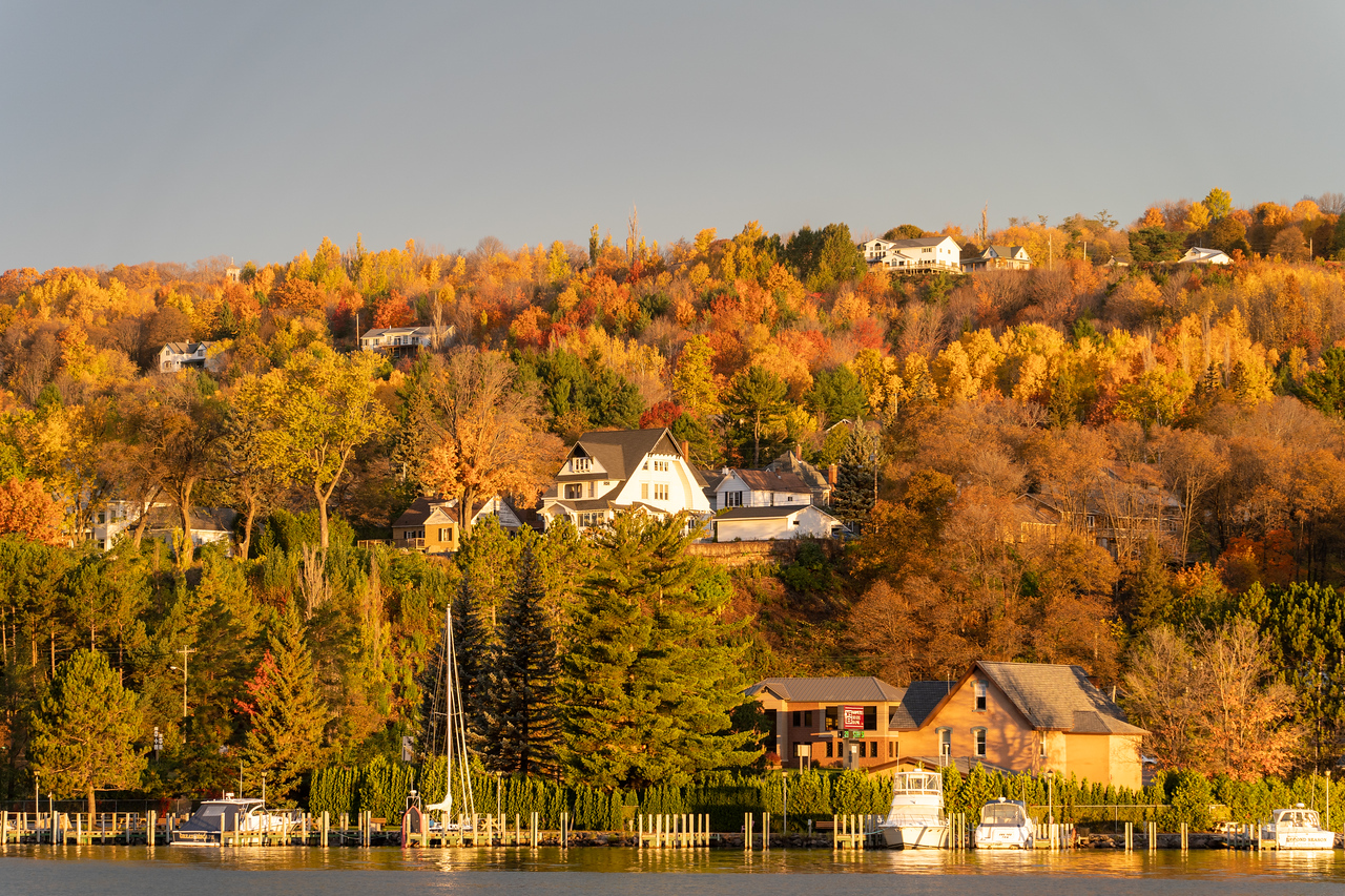 Fall colors in Houghton, Michigan