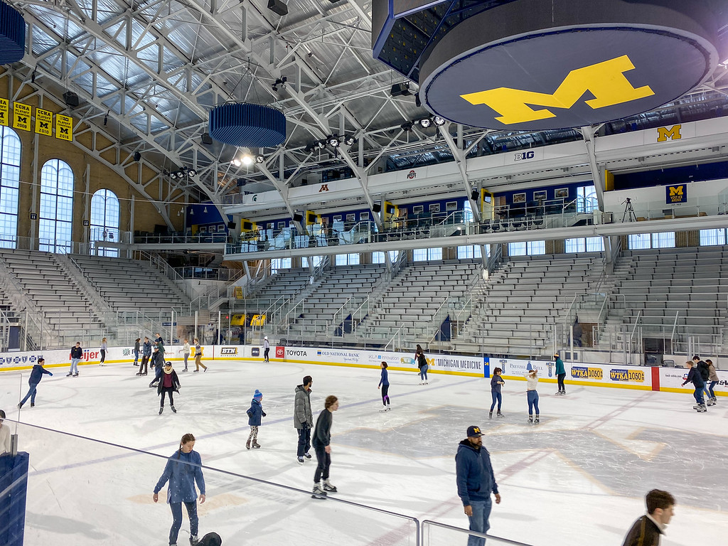Skating at Yost Ice Arena