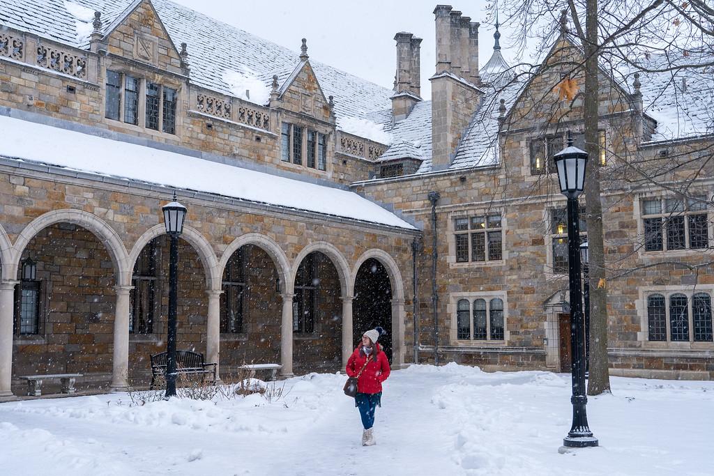 University of Michigan Law Quad in winter