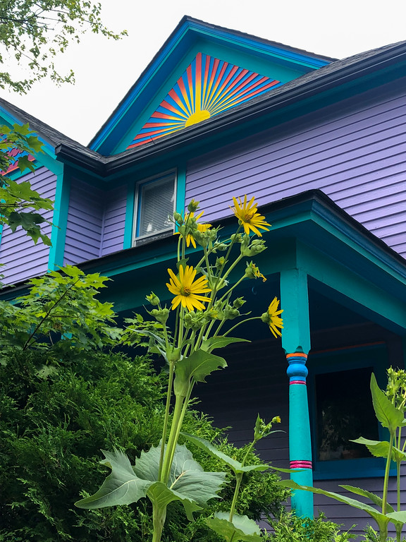 Colorful house in Ann Arbor