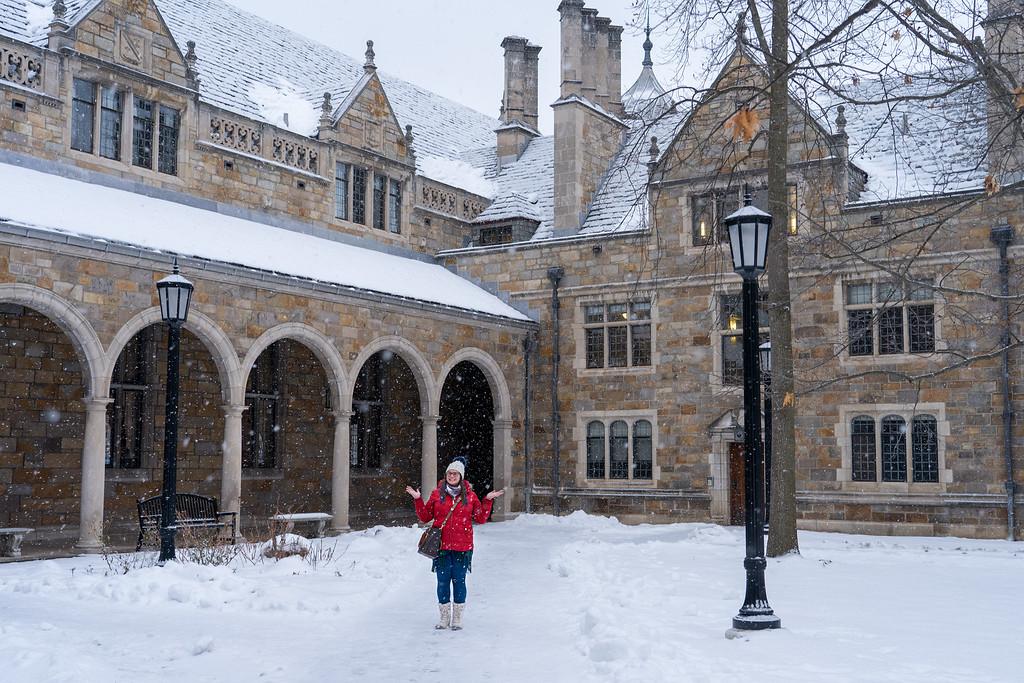 Amanda à Ann Arbor en hiver
