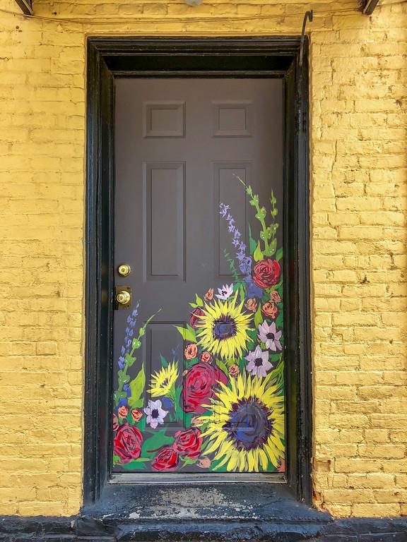 Painted door in Ypsilanti