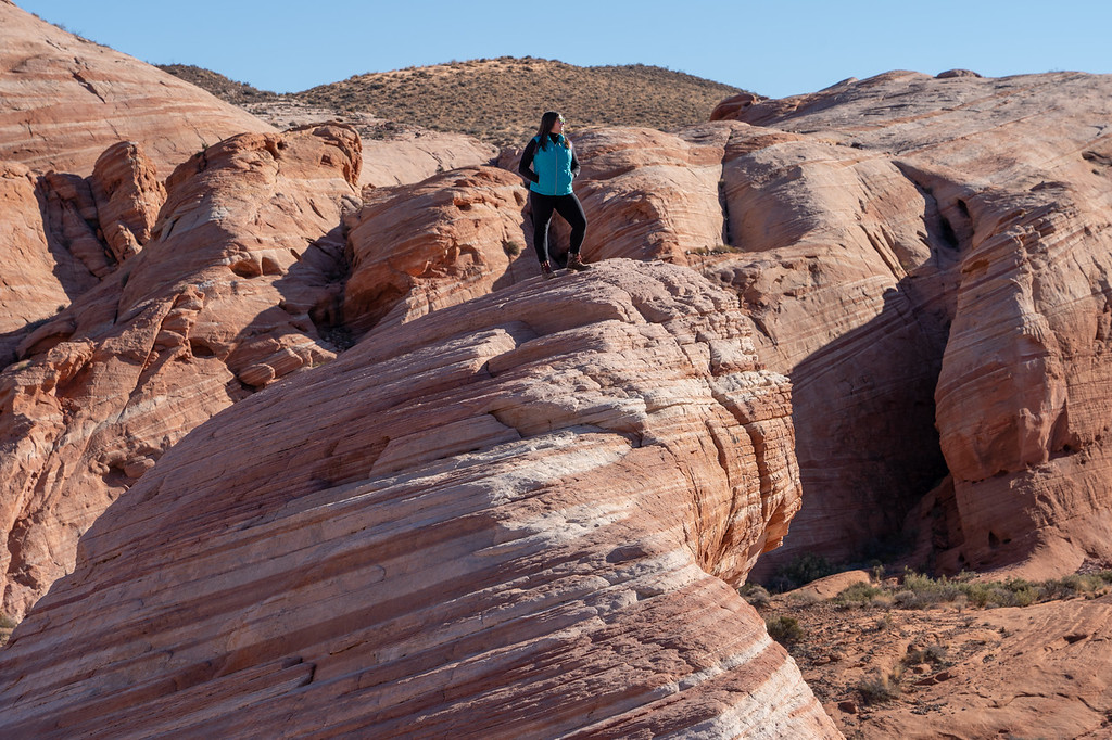 Amanda at the Fire Wave at Valley of Fire State Park