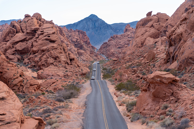 White Domes Road in Valley of Fire