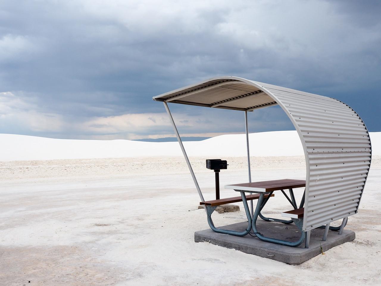 Picnic spot at White Sands National Park