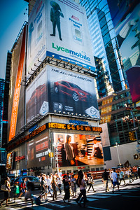 Typical street life scene around Times Square.