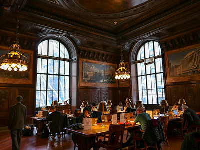 New York Public Library periodicals reading room