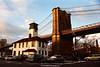 The Brooklyn Ice Cream Factory and Brooklyn Bridge, Brooklyn, New York, U.S.A.