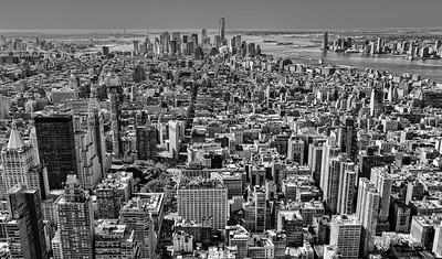 Breathtaking cityscape shot from the Empire State Building.