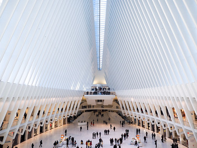 Inside the Oculus in New York City