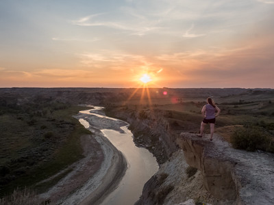 Sunset at Theodore Roosevelt National Park