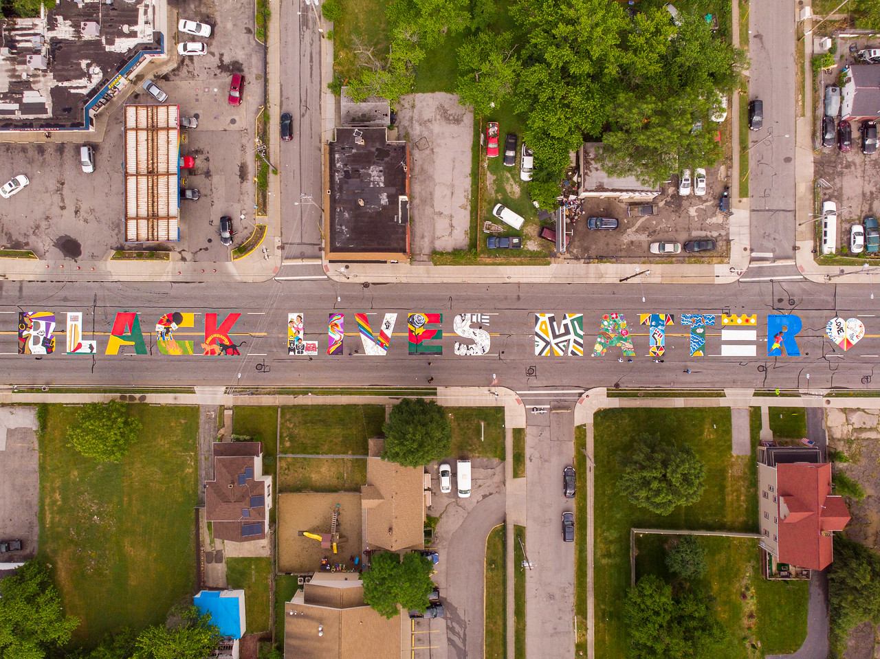 Cleveland Black Lives Matter street mural