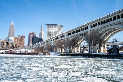 Frozen Cuyahoga River