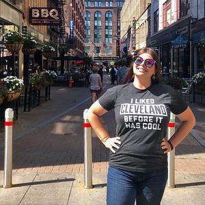 Amanda on E. 4th Street in Cleveland