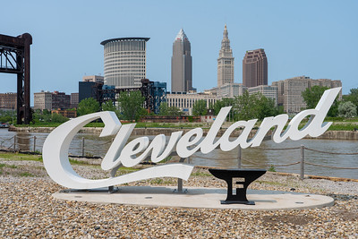 Cleveland script sign at The Foundry