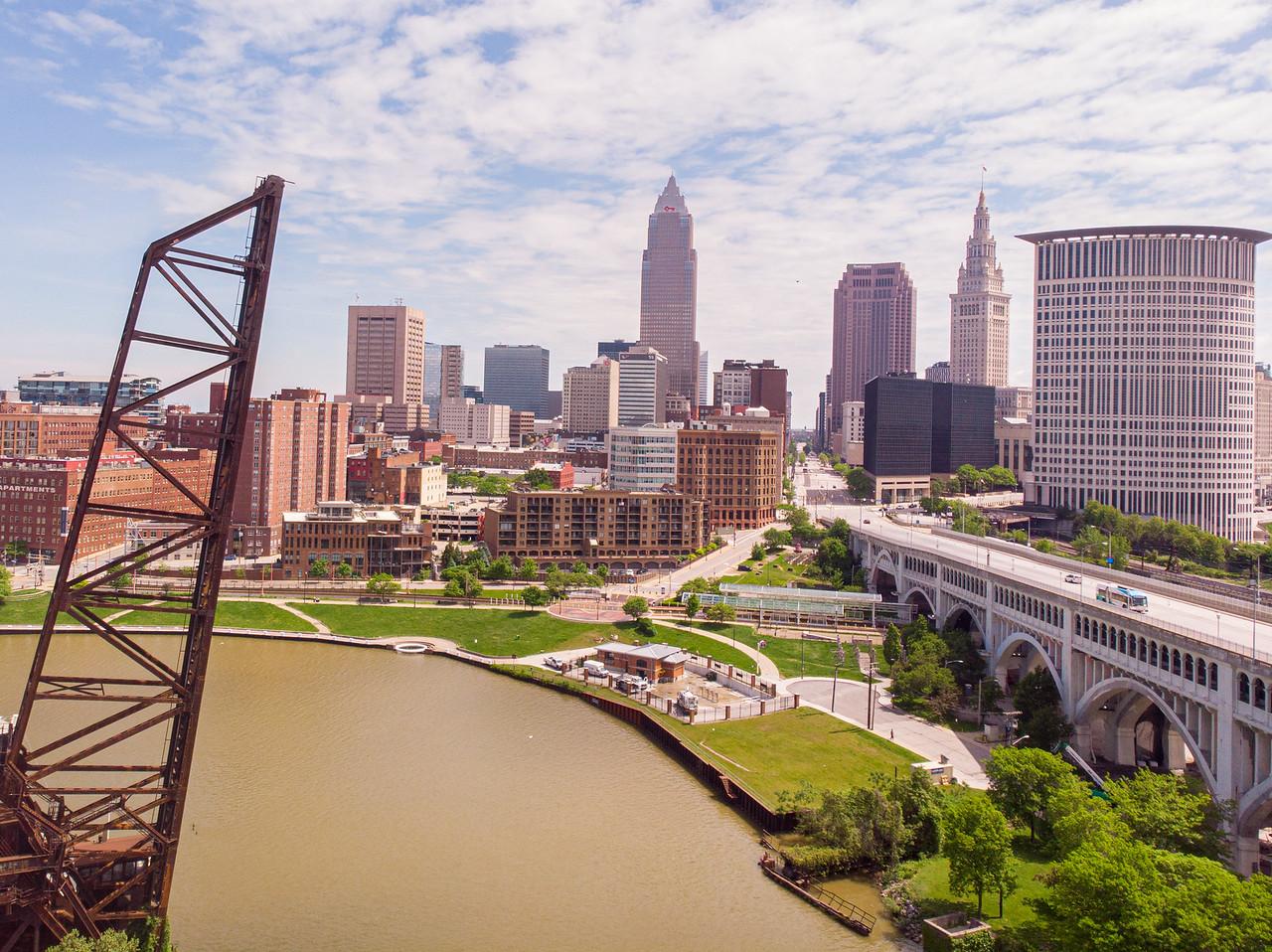 Cleveland skyline views