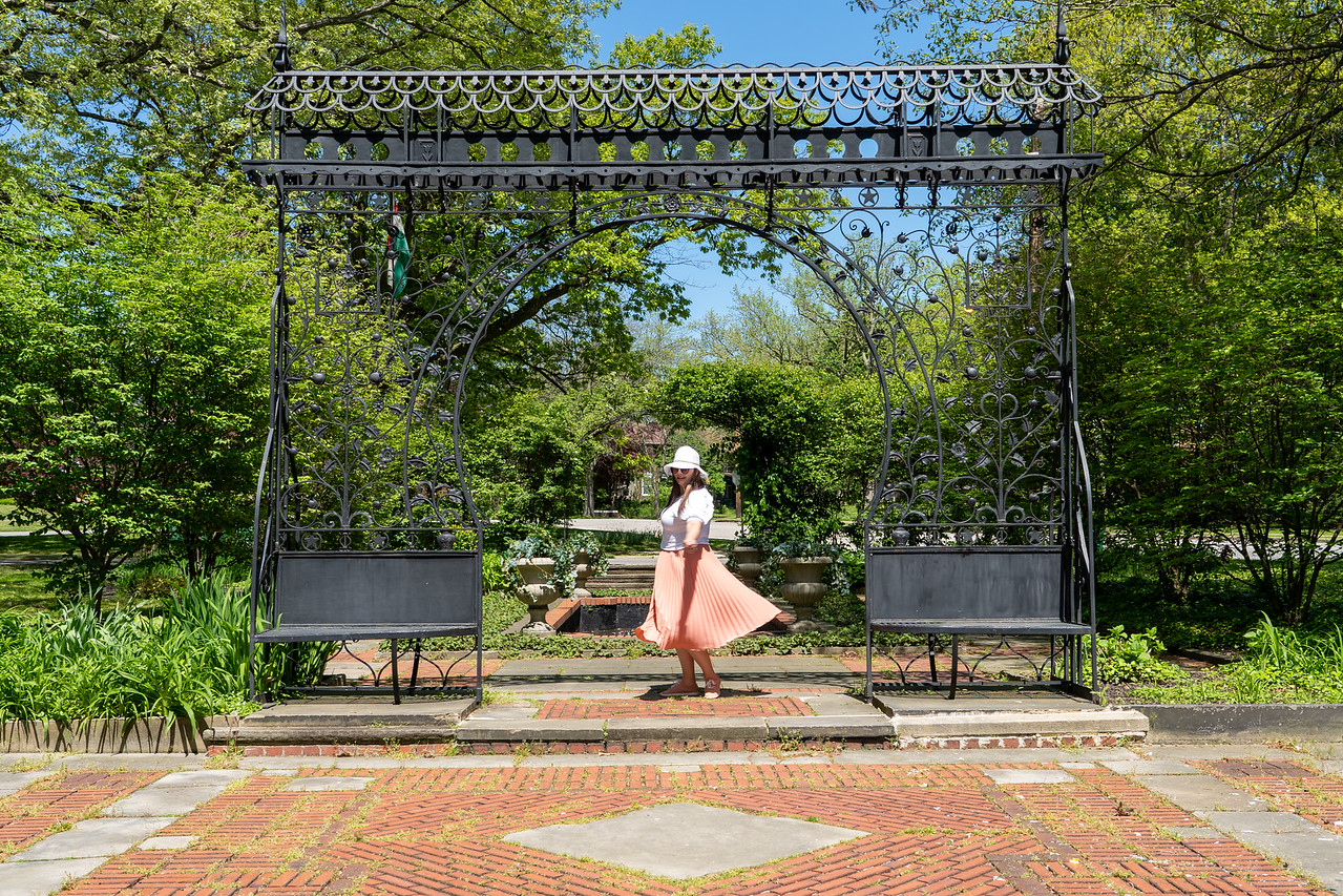 Amanda at the Cleveland Cultural Gardens