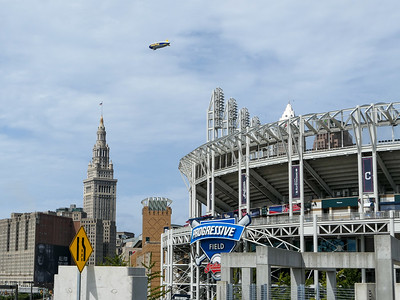 Goodyear blimp in Cleveland