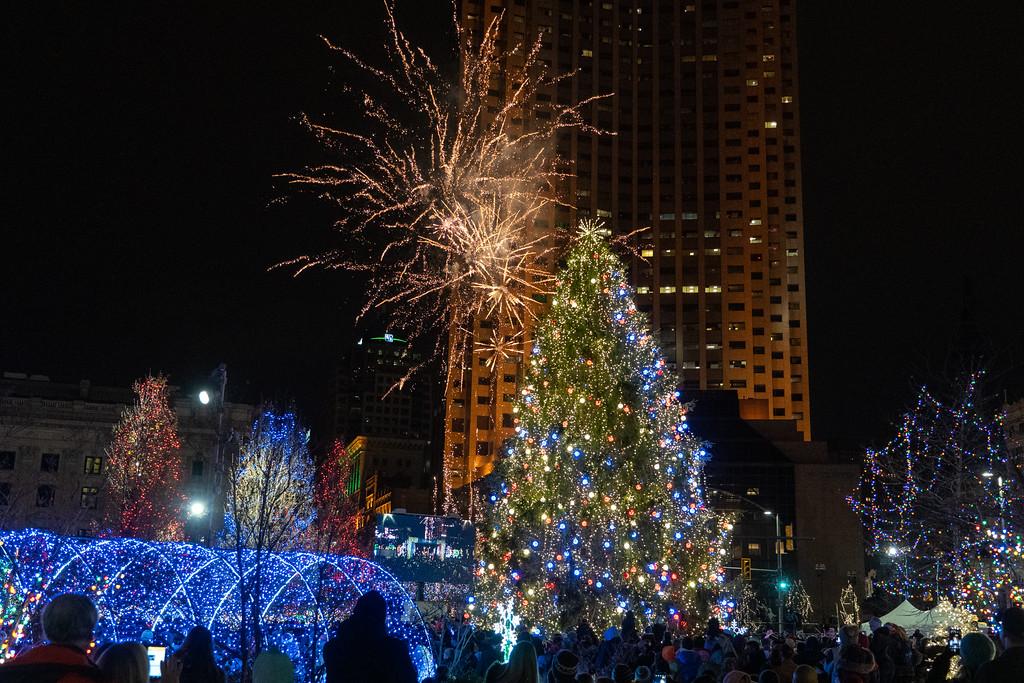 Winterfest fireworks in Cleveland