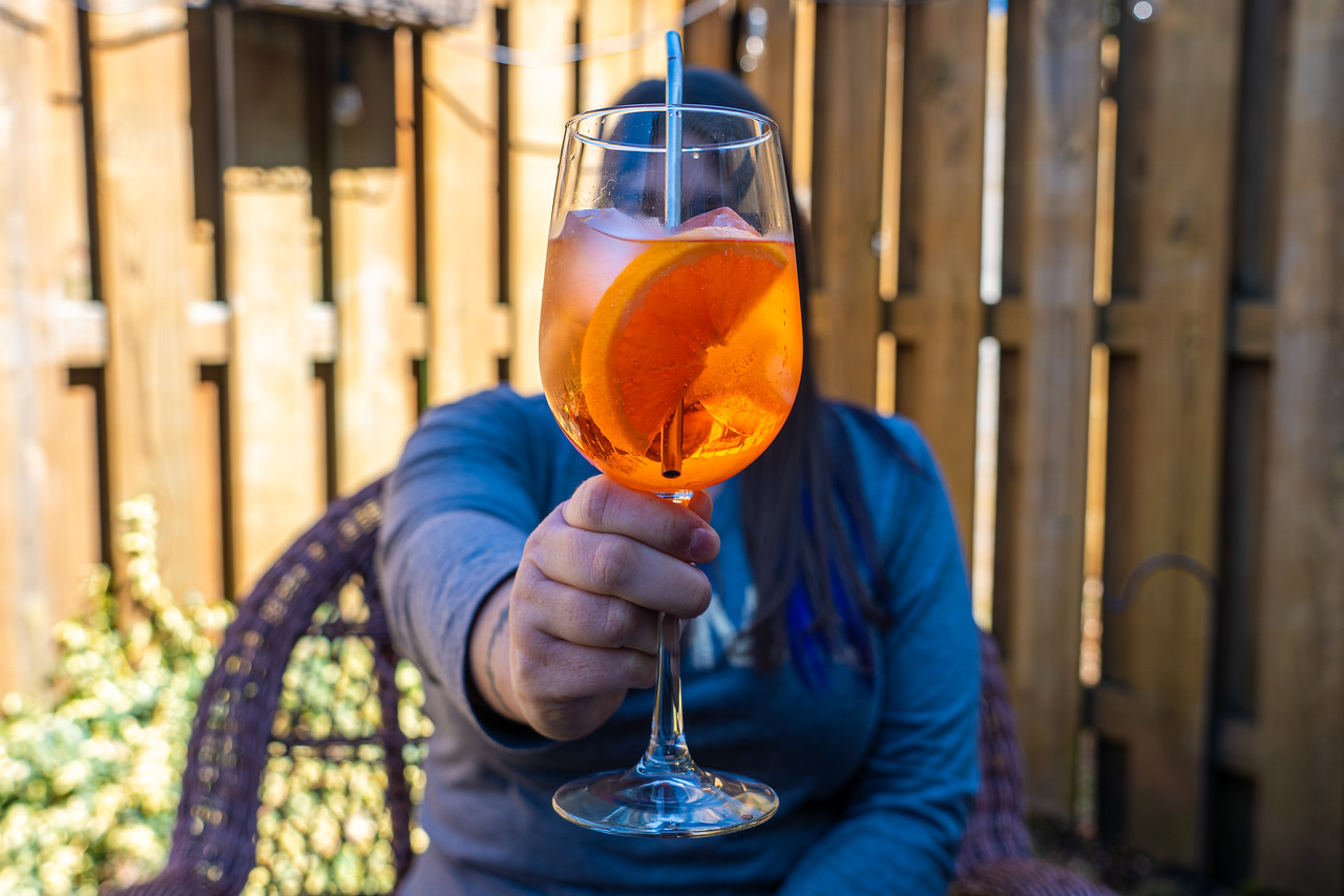 Aperol Spritz on the patio