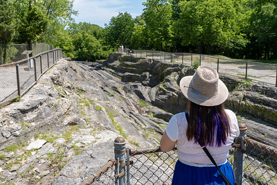 Amanda at Glacial Grooves on Kelleys Island