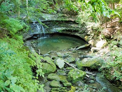 Secret waterfall in Mill Creek Park