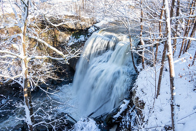 Brandywine Falls in winter