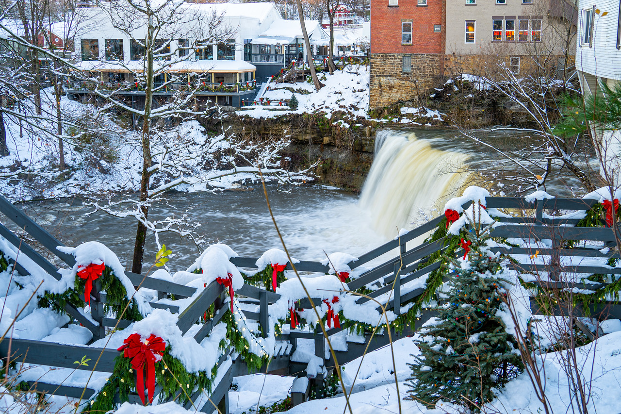 Chagrin Falls in winter