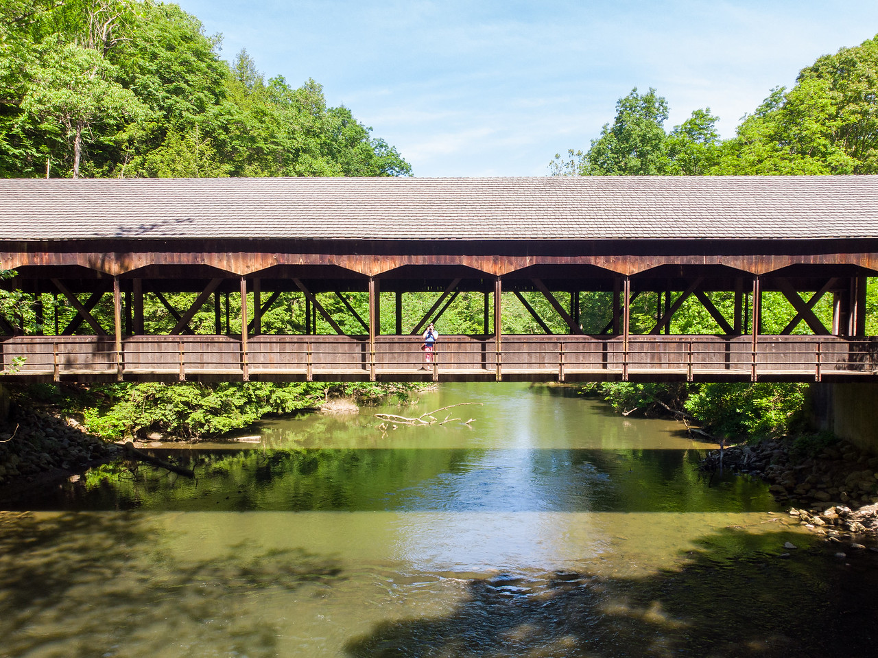 Covered bridge in Mohican State Park