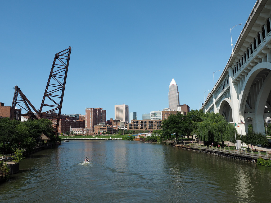 Cuyahoga River in The Flats