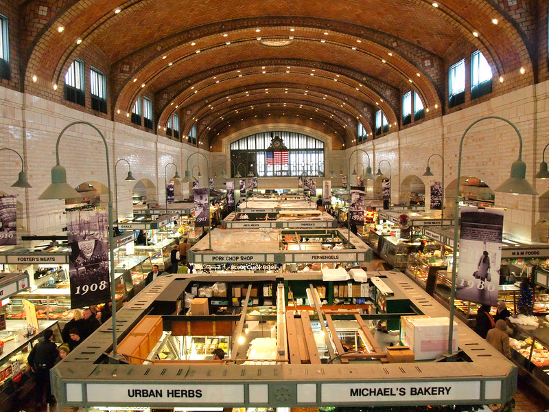 Inside the West Side Market in Cleveland