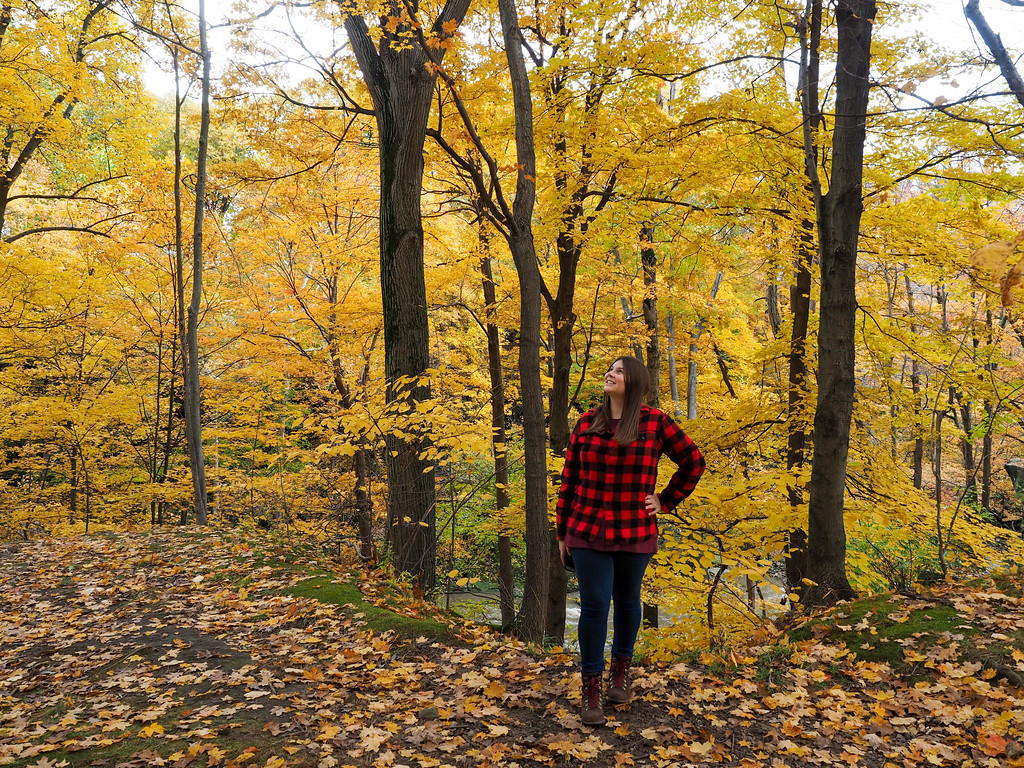 Amanda at Rocky River Reservation in autumn