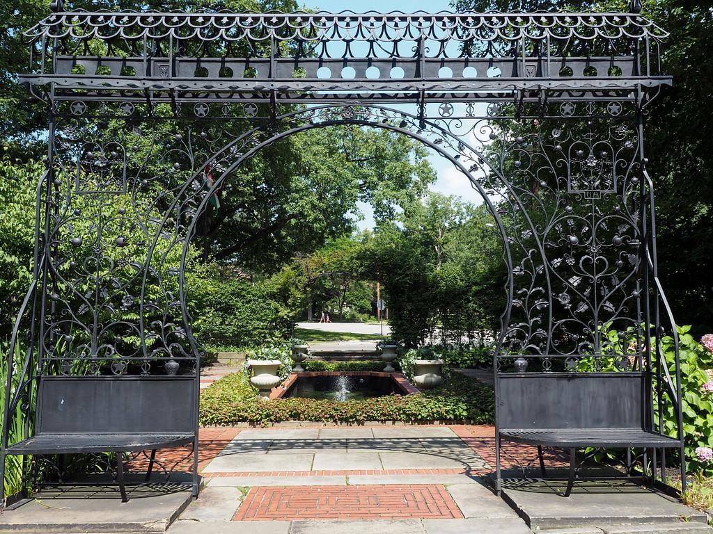 Hungarian garden at Cleveland Cultural Gardens