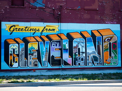 Cleveland mural in Ohio City