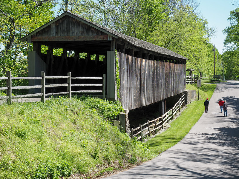 Covered bridge at Governor Bebb MetroPark