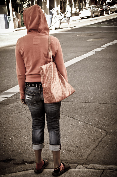 Street life scene in Portland.
