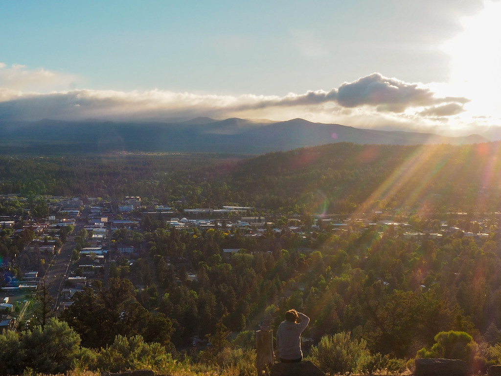 Sunset at Pilot Butte in Bend