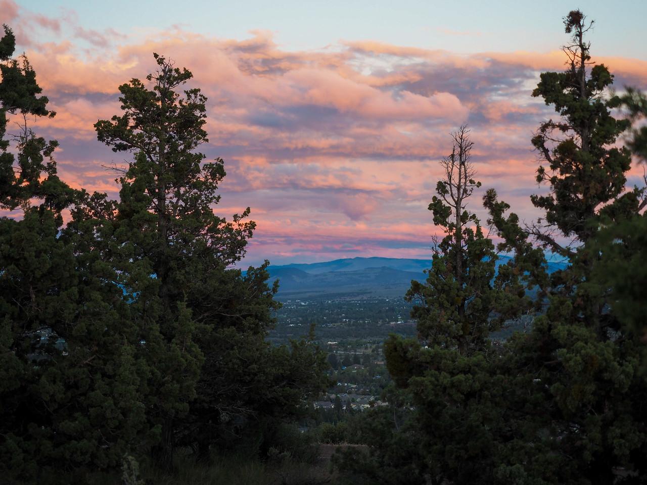 Sunset at Pilot Butte in Bend, Oregon