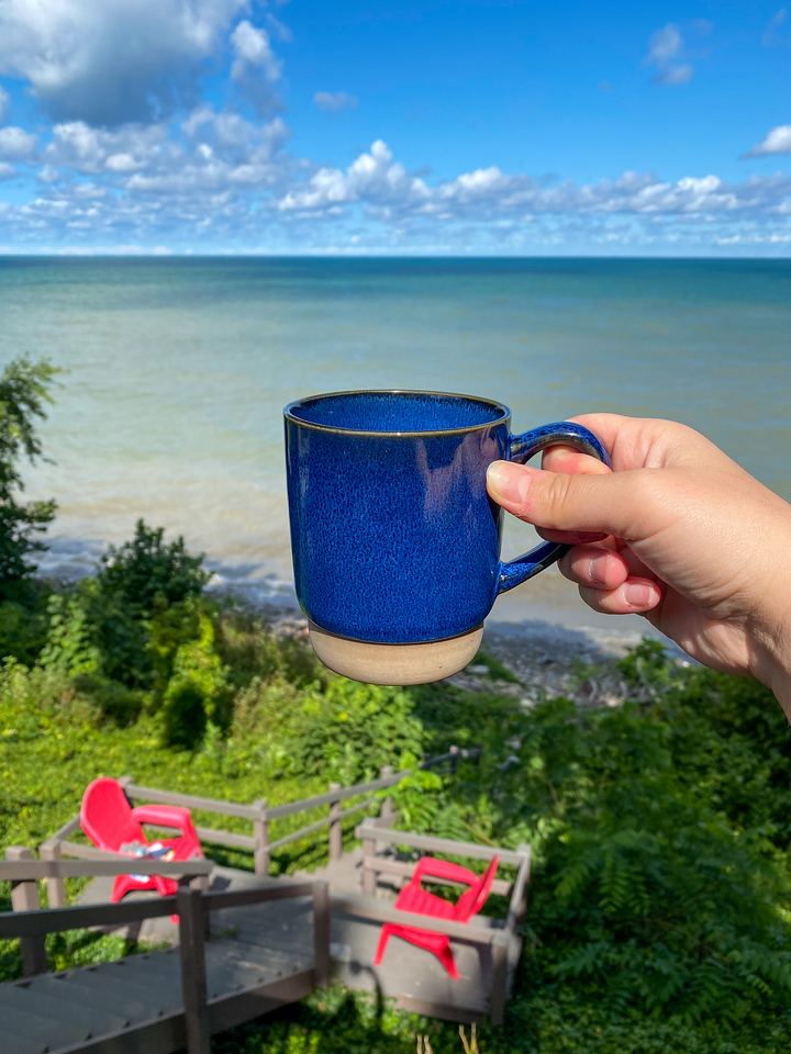 Coffee at Lake Erie