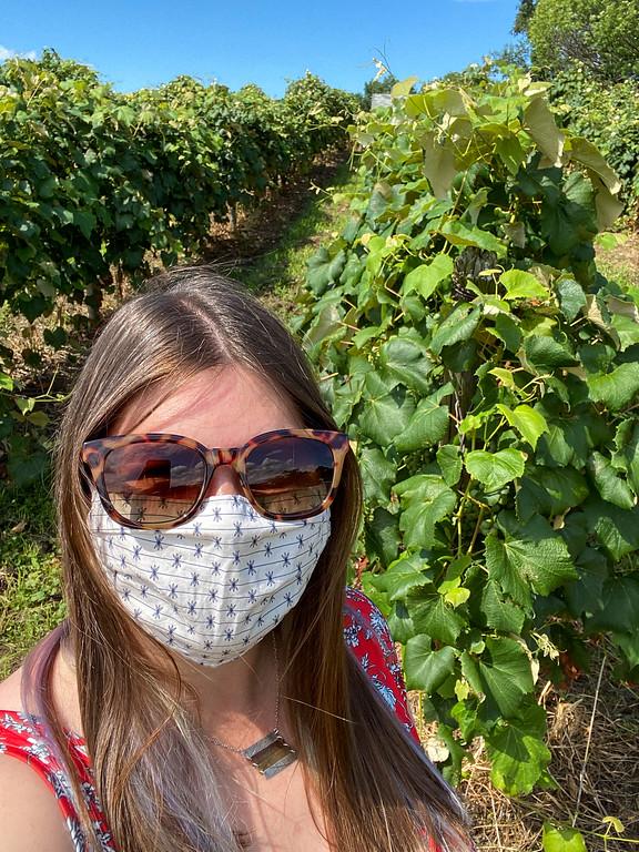 Amanda in a mask