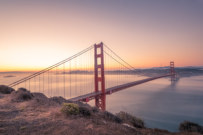 Golden gate at Pre Dawn