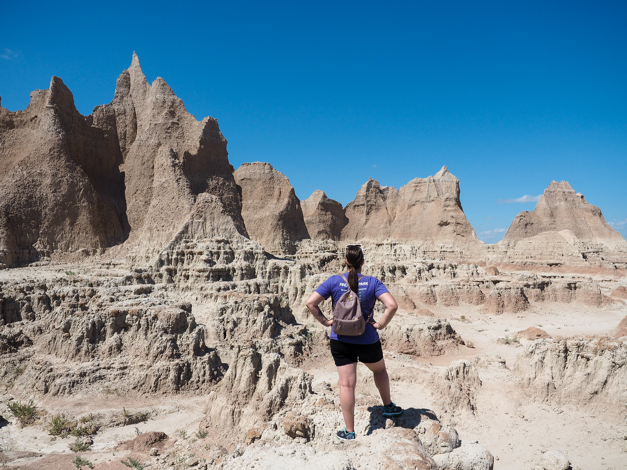 Amanda at Badlands National Park