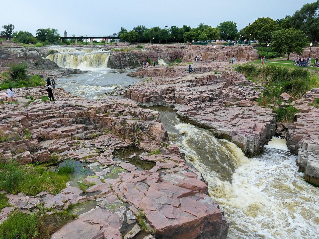 Falls Park in Sioux Falls, South Dakota