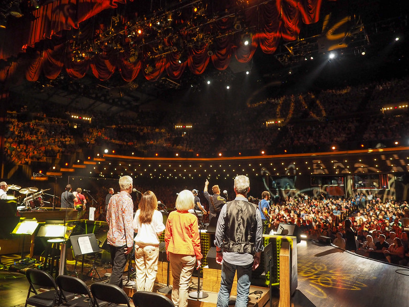 On stage at the Grand Old Opry