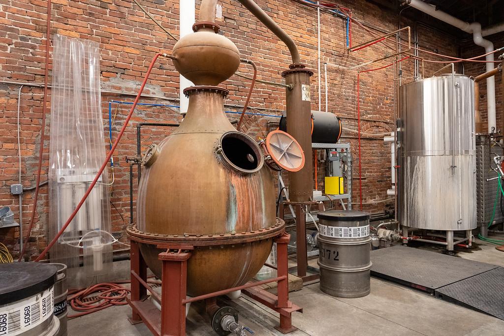 Old still at Corsair Distillery