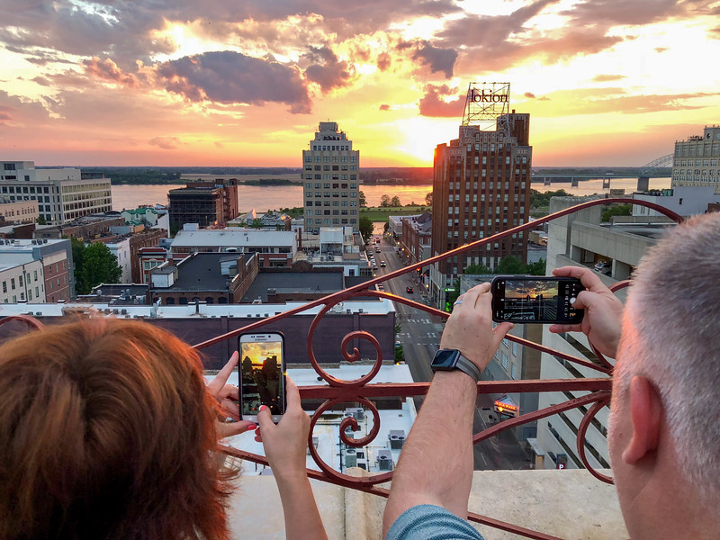 Memphis sunset from the Peabody Hotel