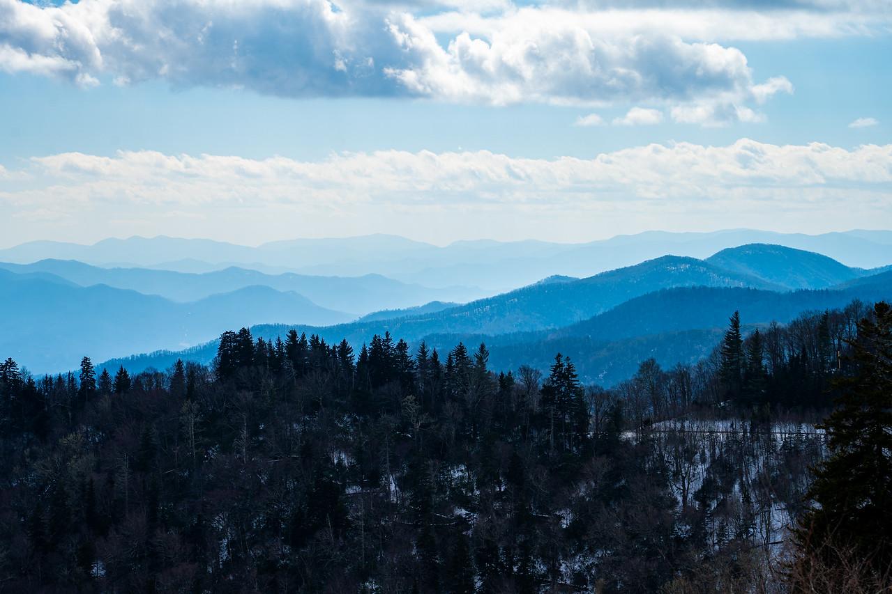 Blue-hued Great Smoky Mountains