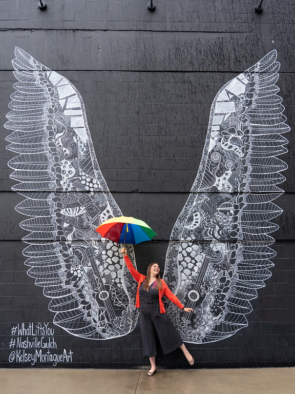 Nashville wings mural