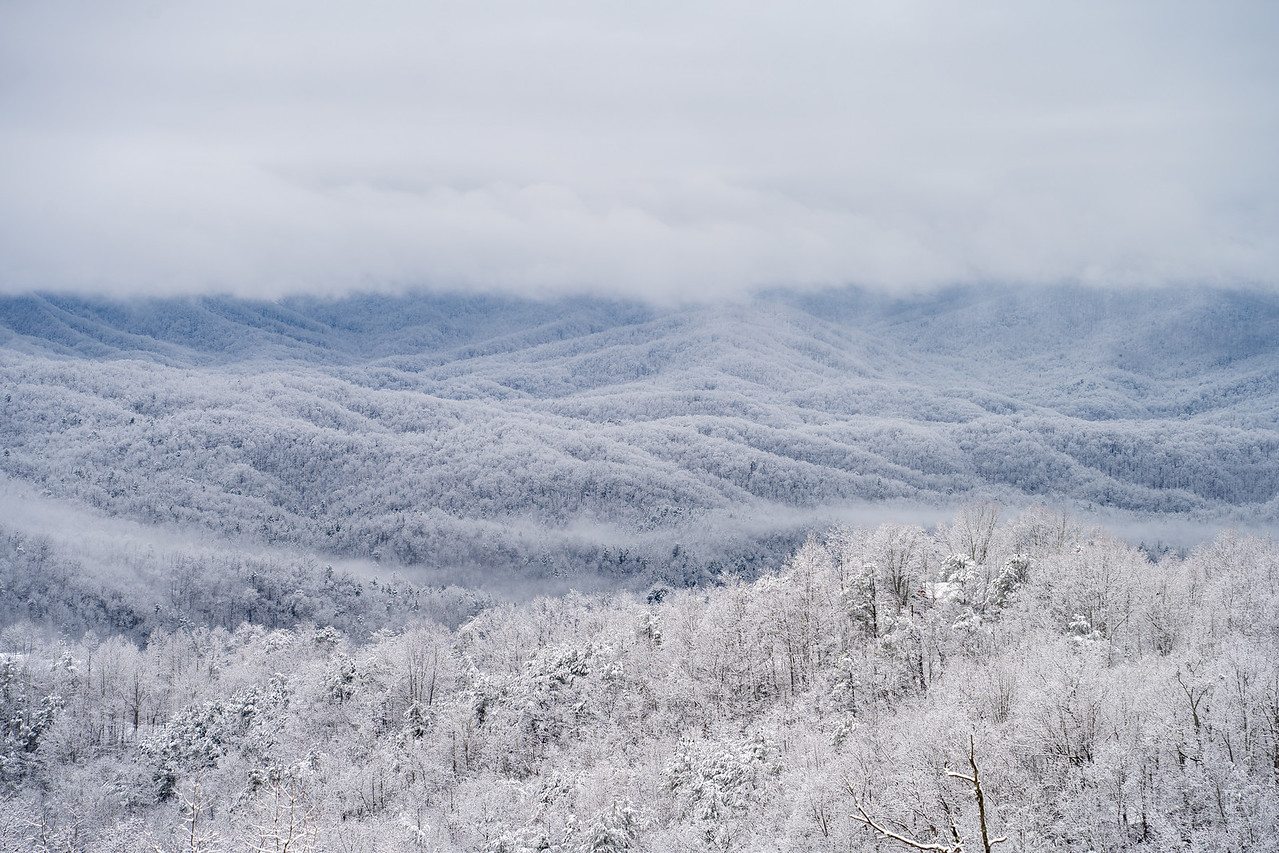 Snow on the Great Smoky Mountains